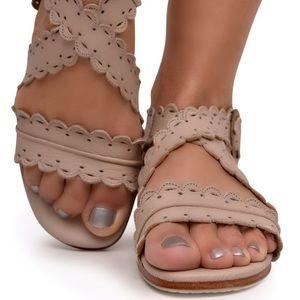 ELF Mermaid handmade leather sandals cream 10